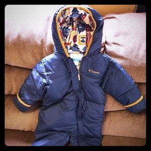 Columbia baby puffer snowsuit